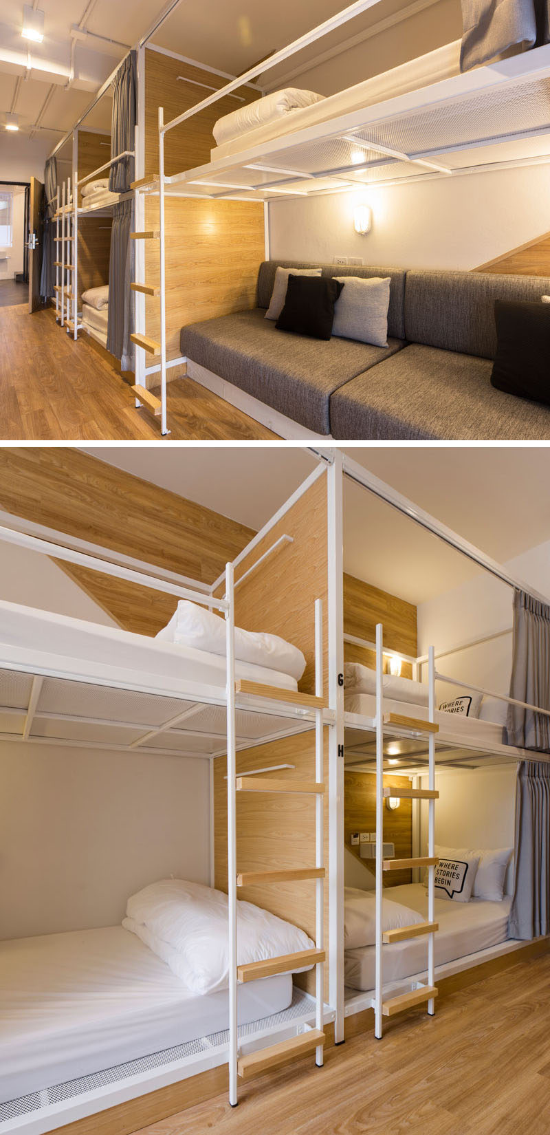 Stunning In this modern Bangkok hostel the dormitory rooms have been set up with bunk beds
