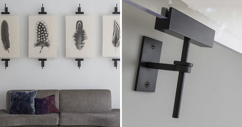 Amuneal has added a new item to their portfolio called the Modern Easel. Itu0027s & Wall Art Display Ideas - These contemporary industrial metal clamps ...
