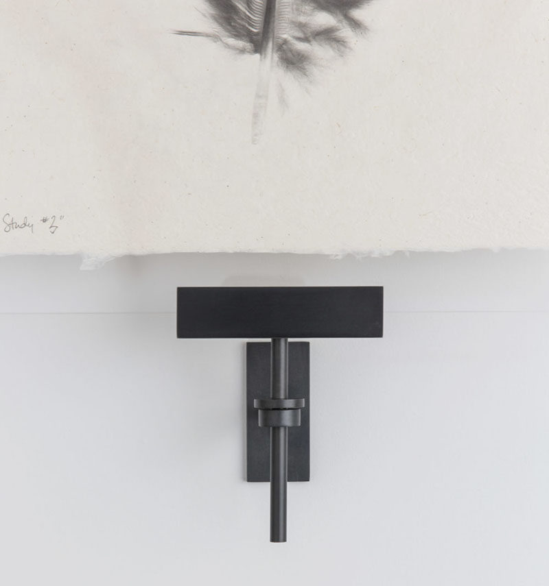 Wall Art Display Ideas - These contemporary industrial metal clamps