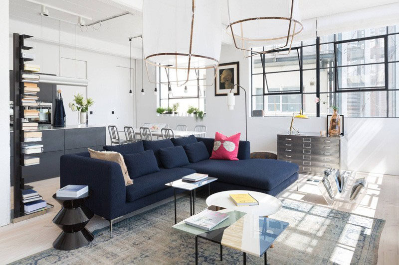 4 ways to use navy home decor to create a modern blue living room rh contemporist com navy sectional living room navy sectional living room