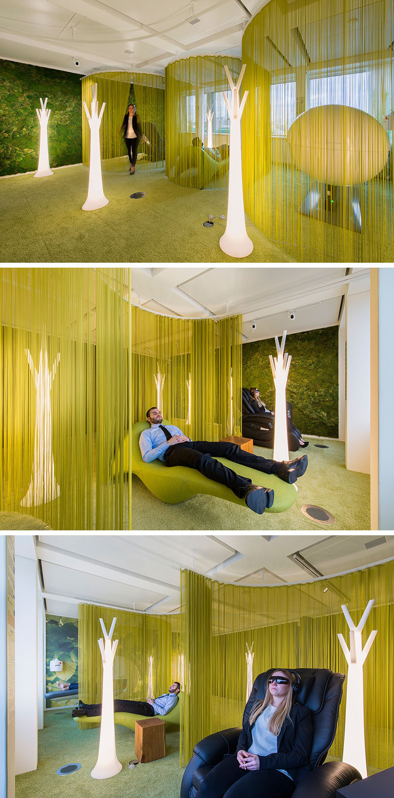 Office design inspiration this modern office has a for Office area design