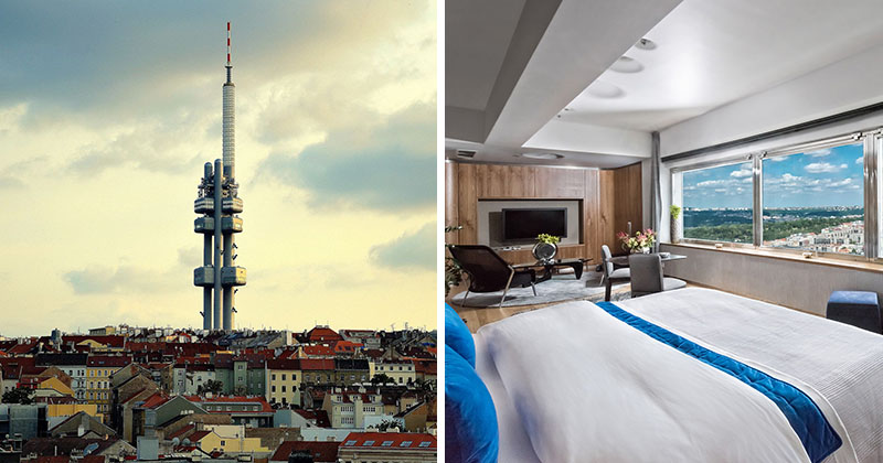 There S A One Room Hotel In This Tower Overlooking Prague Contemporist