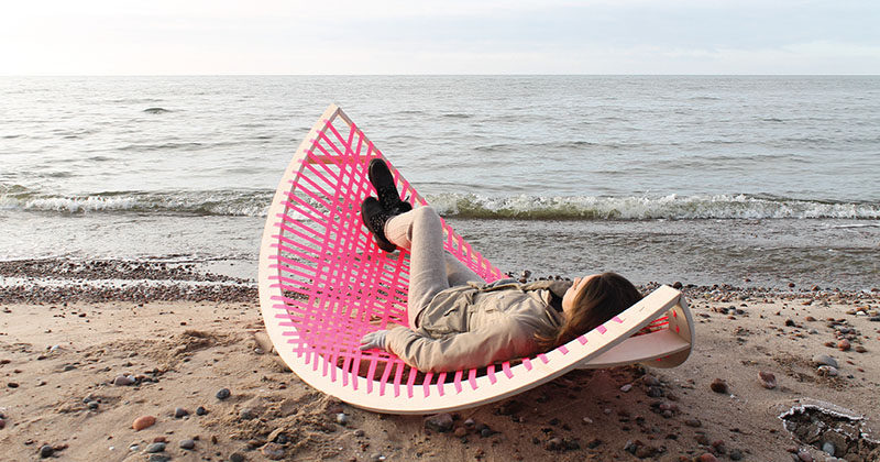 This Fun And Bright Outdoor Hammock Can Also Be A Soccer Goal