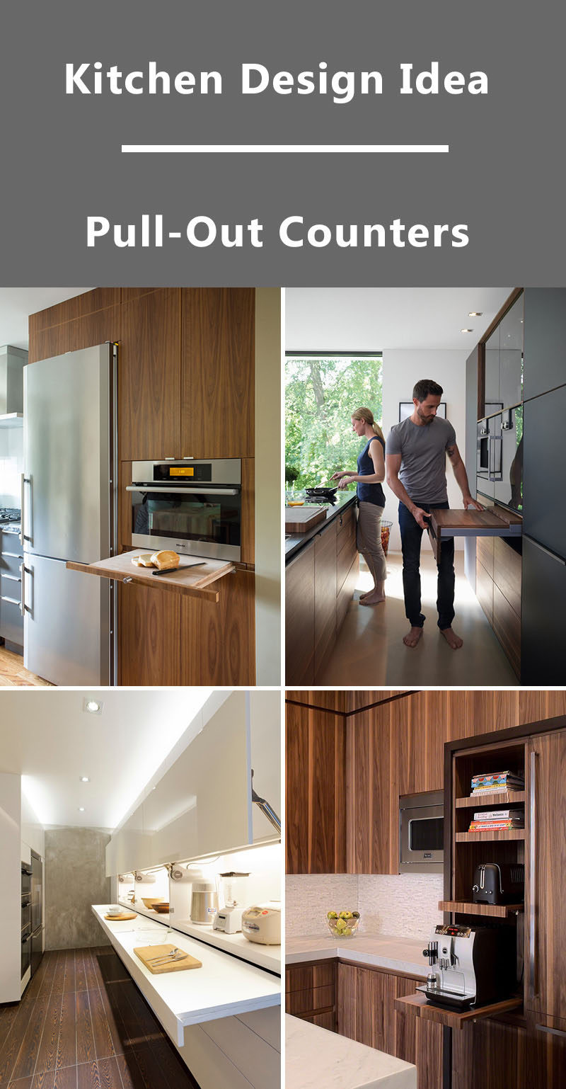 Kitchen Design Idea Pull Out Counters 10 Pictures