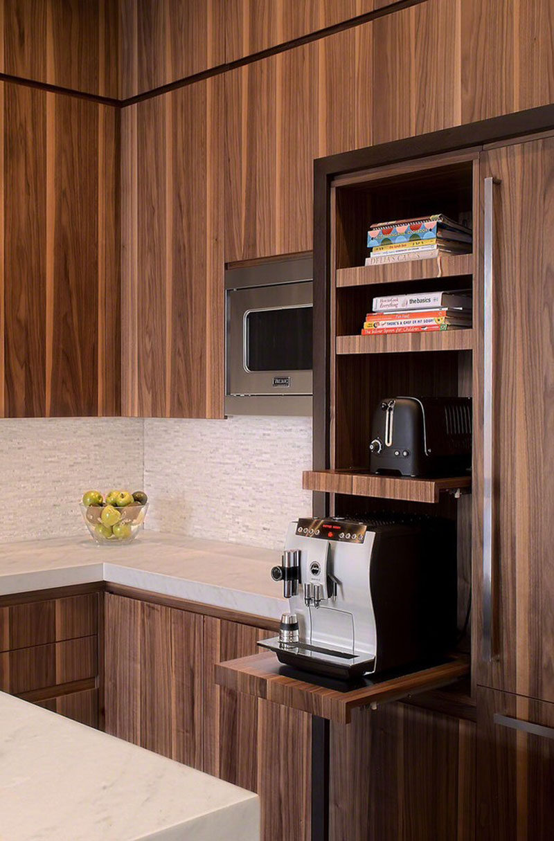 Kitchen Design Idea Pull Out Counters