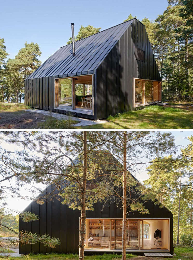 19 Examples Of Modern Scandinavian House Designs | The black siding  seamlessly connects with the black