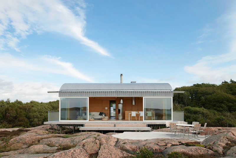 scandinavian home design. 19 Examples Of Modern Scandinavian House Designs  Large glass windows make up the front of CONTEMPORIST
