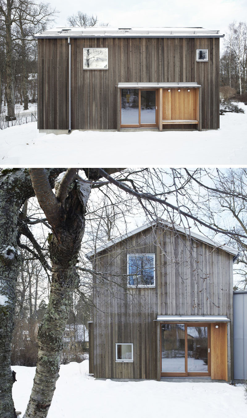 19 examples of modern scandinavian house designs for Types of wood siding for homes