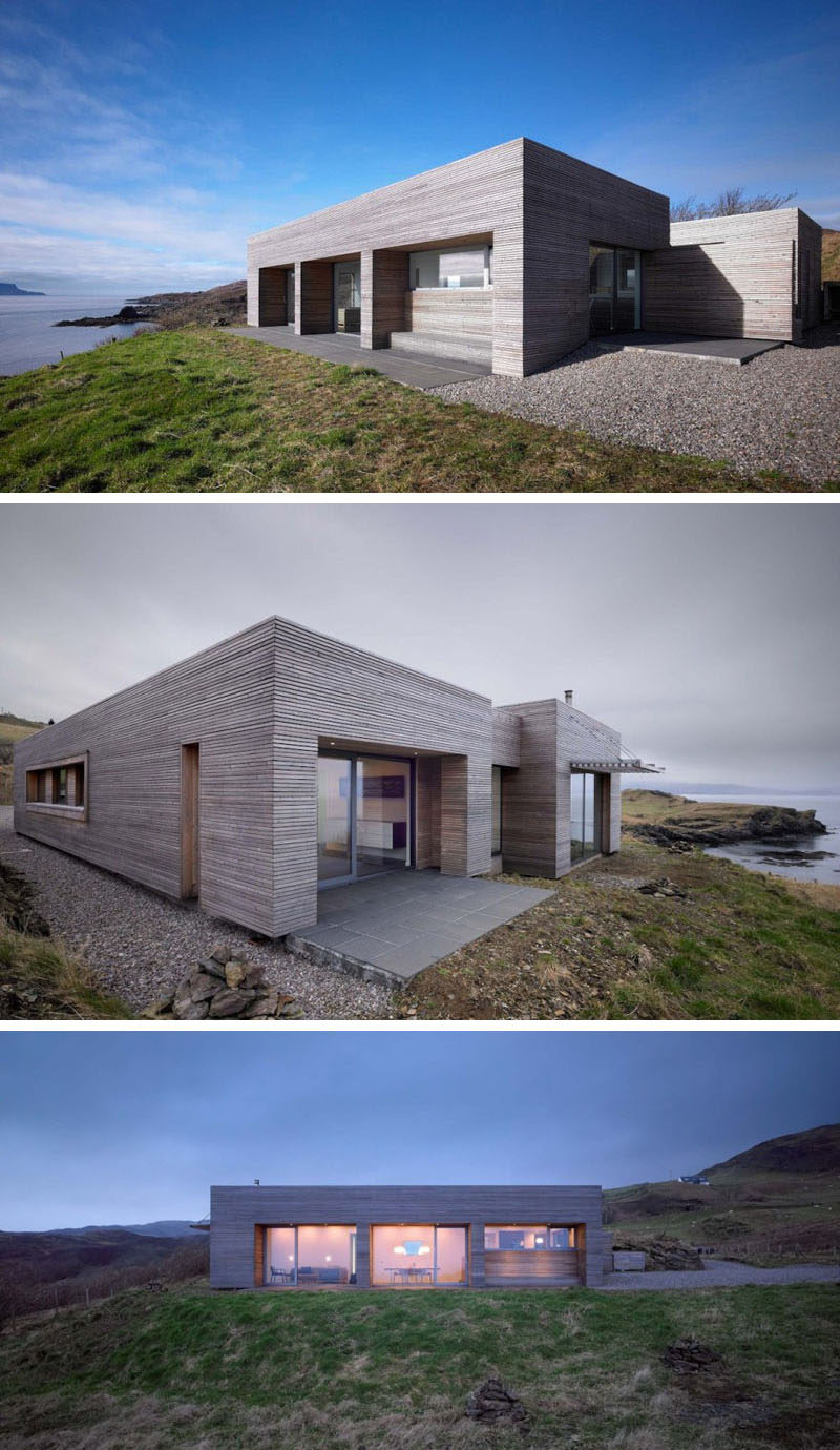 15 single story modern houses this modest single story house overlooking the water is clad
