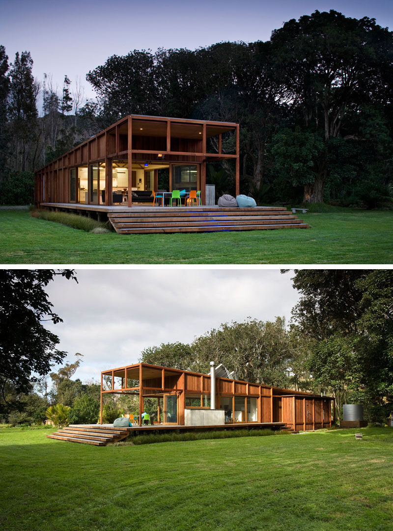 15 examples of single story modern houses from around the for Big one story houses
