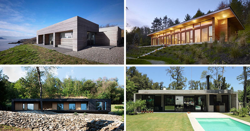 15 examples of single story modern houses from around the for Modern single story homes