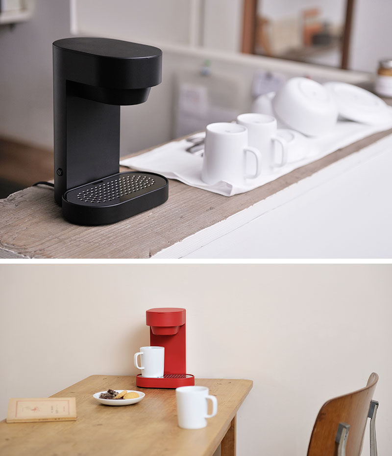 13 Modern Gift Ideas For Coffee Connoisseurs // For those who enjoy coffee on a smaller scale, this two cup coffee maker sits unobtrusively on the counter and lets you brew two cups of perfect coffee in minutes.