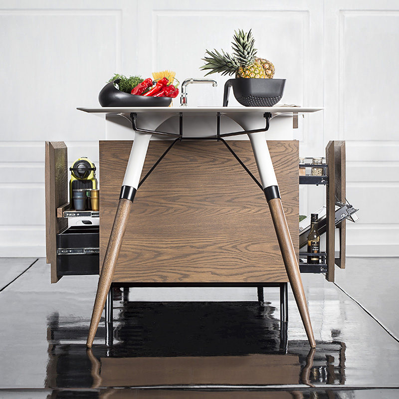 This standalone kitchen is named the Kitch' T® Compact Kitchen, and it was created by dsignedby.