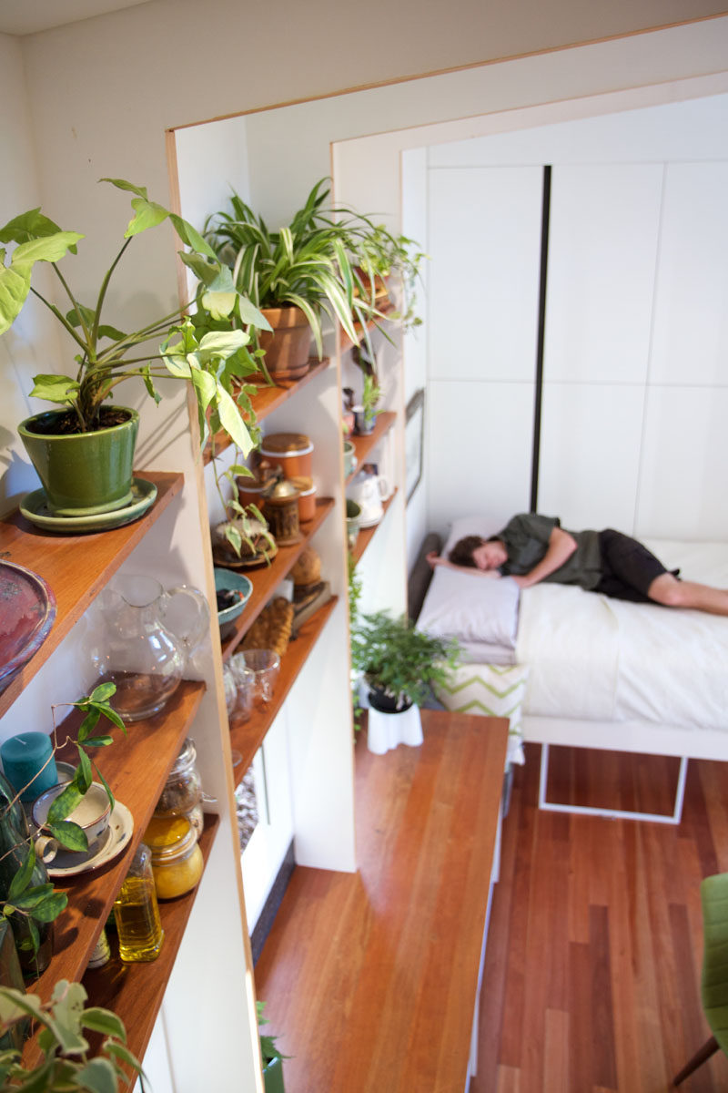This Tiny House In Australia Has A Retractable Bed To Save Space