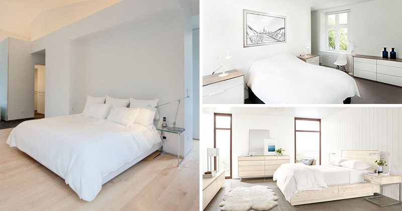 5 simple white bedroom decor ideas to use in your home for Simple and sober bedroom designs