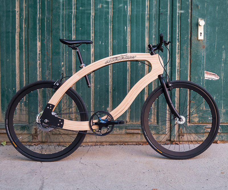 This wooden ebike was designed by aceteam