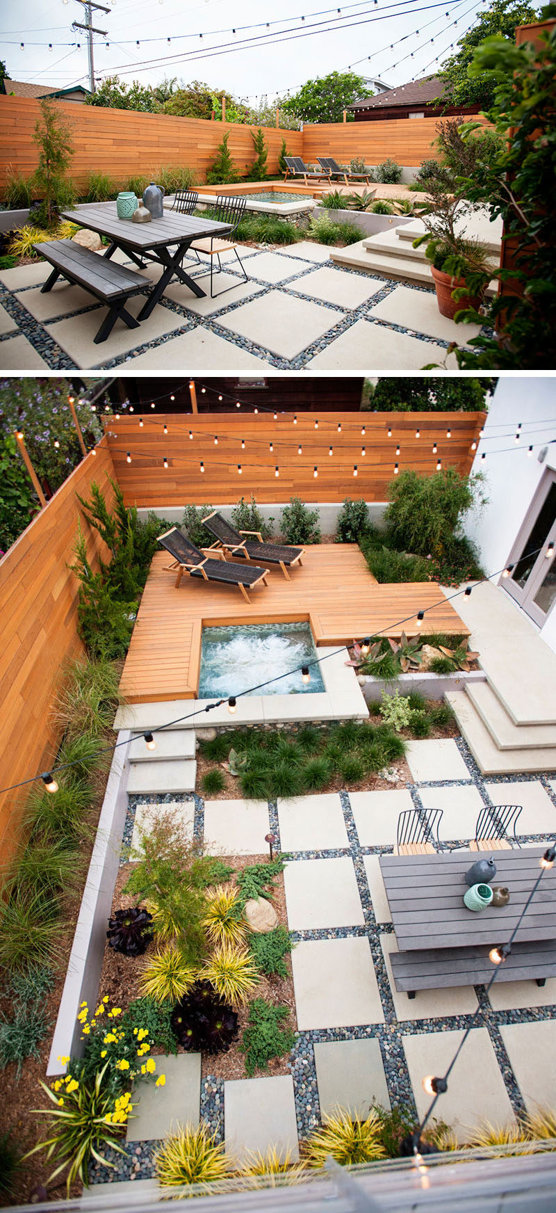 Landscaping design ideas 11 backyards designed for entertaining the multiple levels of this backyard