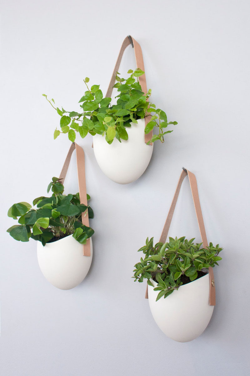 8 Bedroom Wall Decor Ideas // Hanging Wall Planters - Bring some life and color to your walls by hanging planters on them. You'll get the benefit of having cleaner air in the bedroom as well as the benefit of having your walls look super stylish.