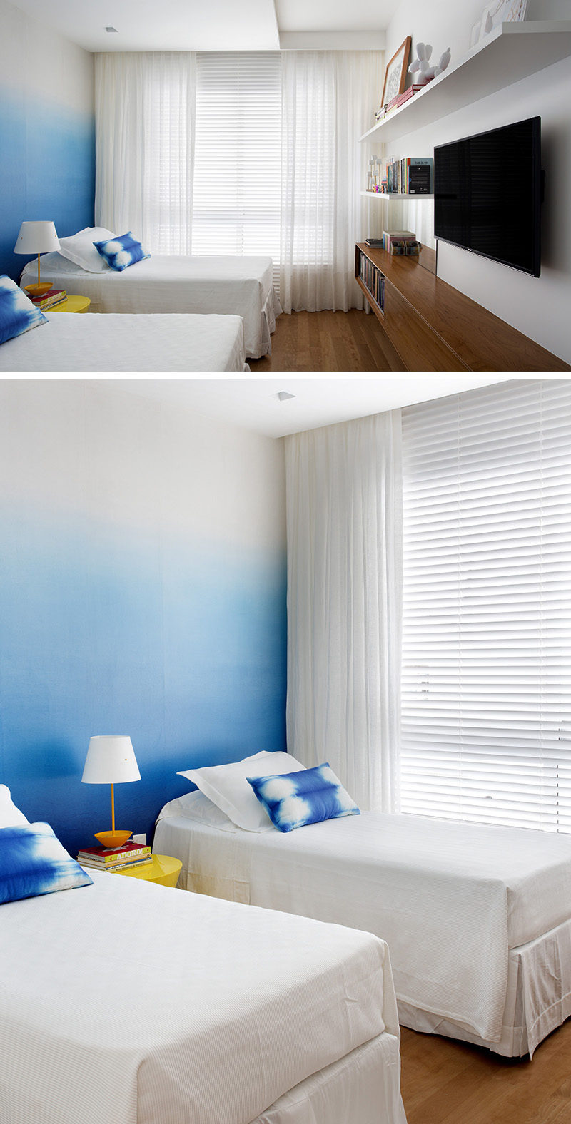 Bedroom design ideas create an ombre wall for a colorful for Bedroom design creator