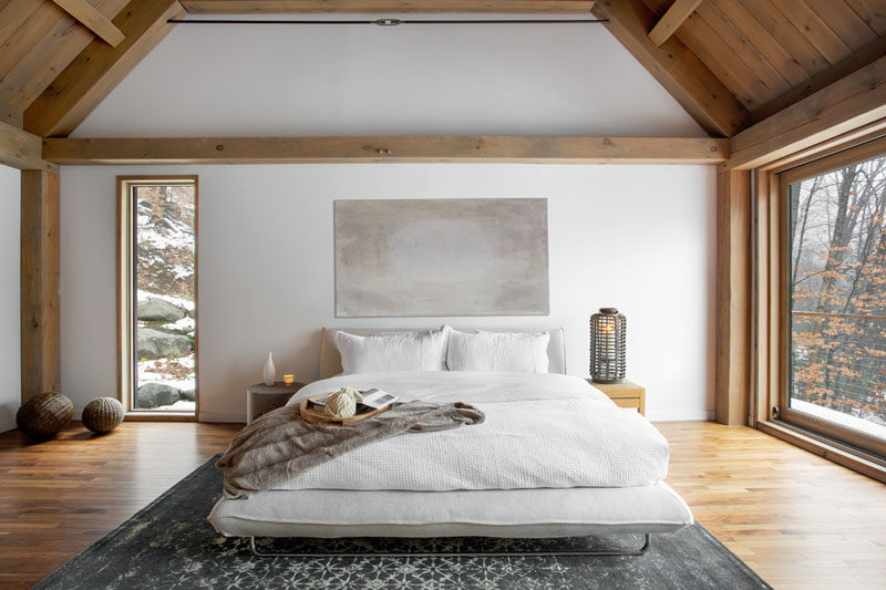 Bedroom Design Ideas - This Cozy Barn-Inspired Bedroom With Ensuite Has A Neutral Color Palette