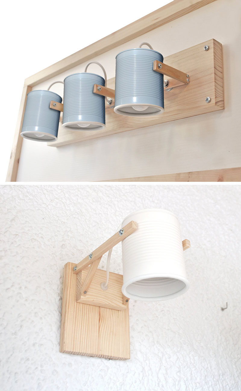 These Simple Lamps Use Recycled Tin Cans As Lamp Shades