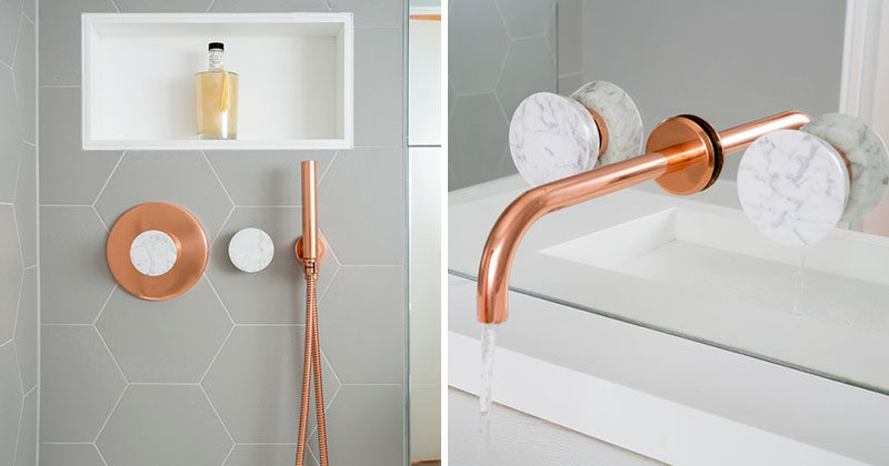 Bathroom Features Copper And Marble