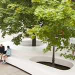 This Public Seating Installation Was Inspired By Snowbanks That Gather Around Trees And Street Lights