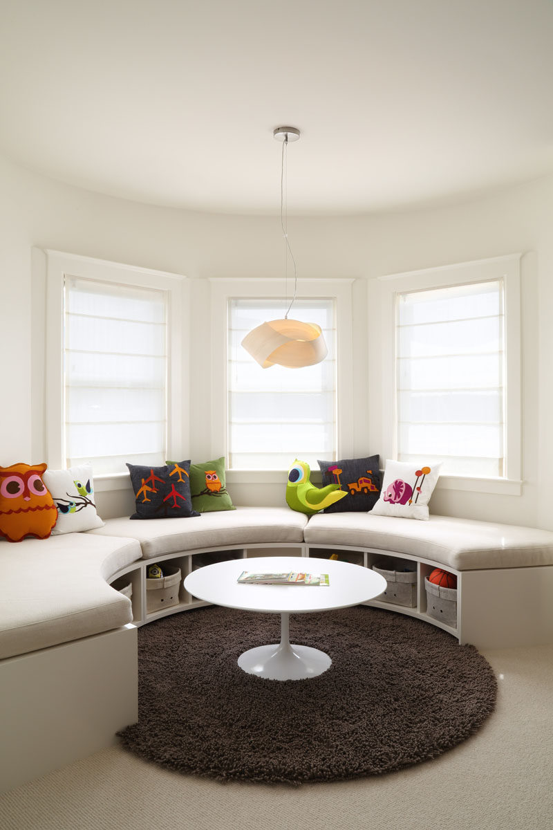 Pleasant Kids Bedroom Idea Create A Curved Window Seat With Built Machost Co Dining Chair Design Ideas Machostcouk