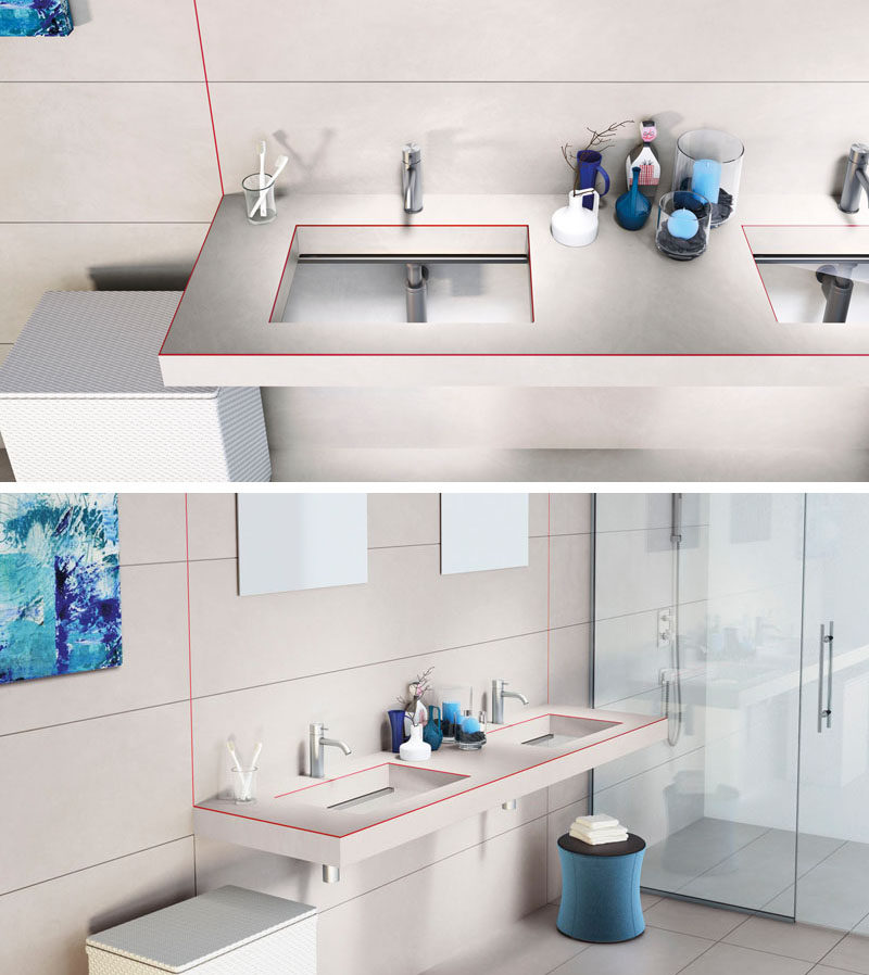 Bathroom Ideas - The Depth Basin, designed by Daniele Lago for the Italian design brand LAGO, is a glass sink that when combined with wood (or other materials) creates a unique looking vanity that would fit right into any modern bathroom.