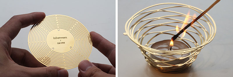 These Metal Candle Holders Start Out As A Brass Disc