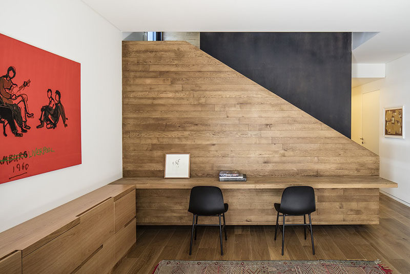 Interior Design Ideas - Build A Desk On An Unused Wall Space To Create A Small Home Office