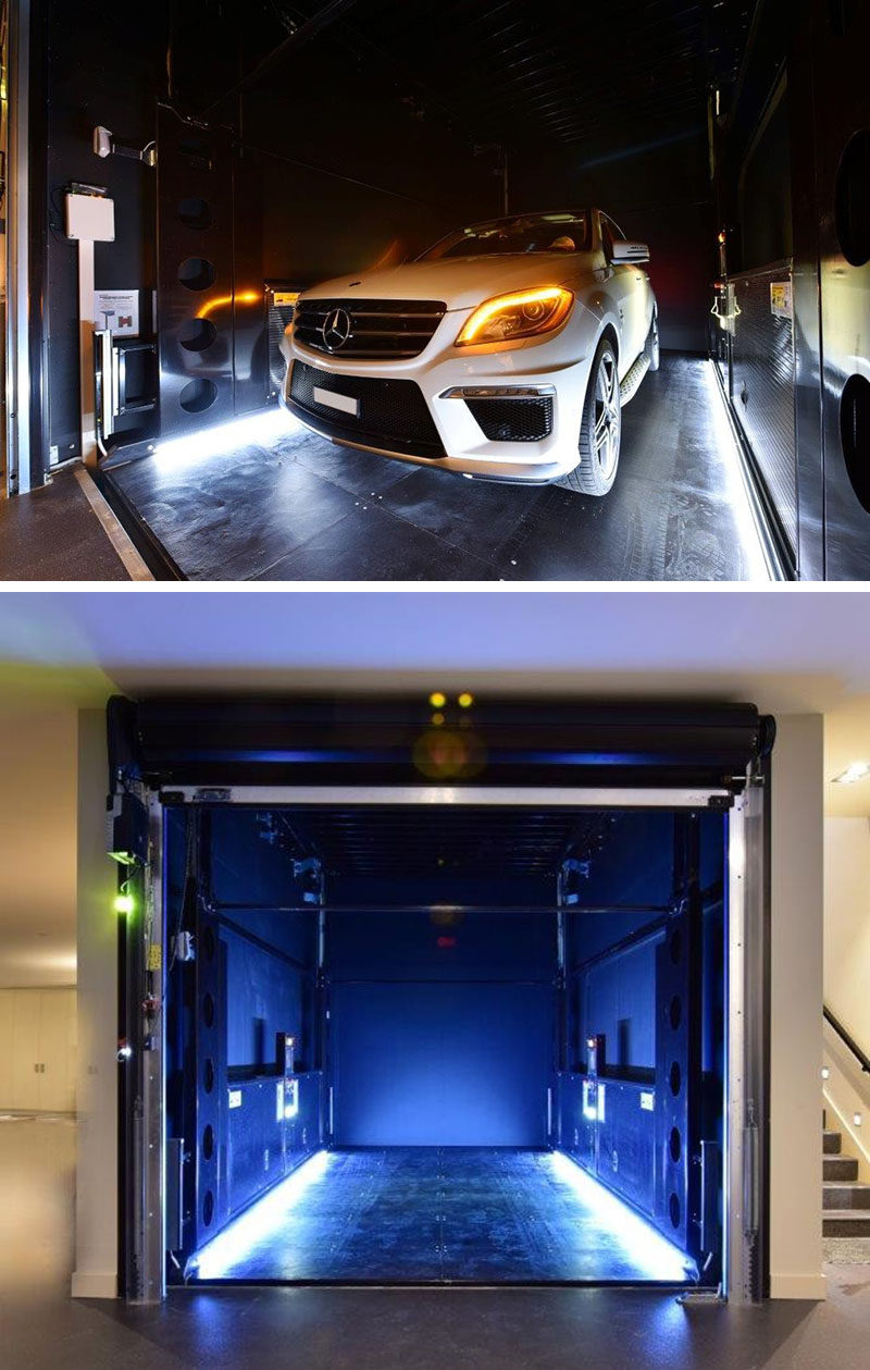 for products living car blue on showroom lifts post in mini lift garage