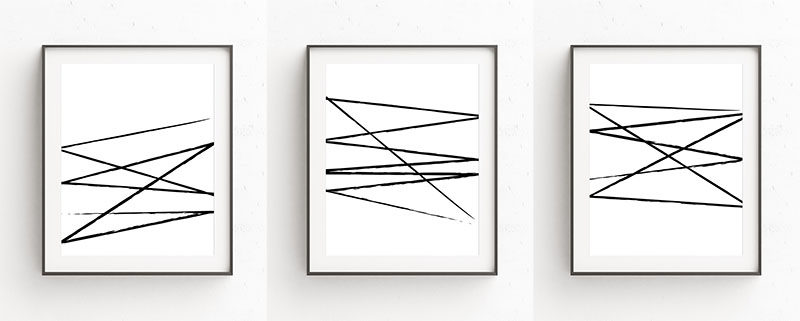 Oju Design Has Created A Series Of Modern Black And White Wall Art Prints That Have