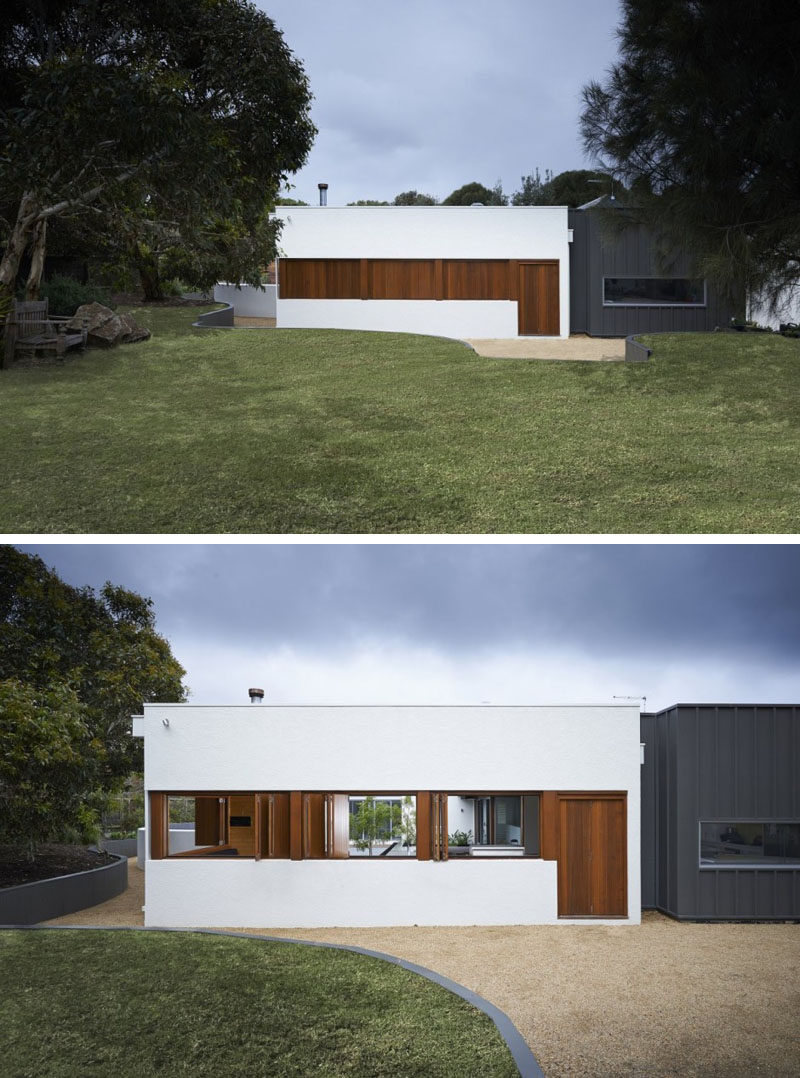 12 Minimalist Modern House Exteriors // The Combination Of White, Wood, And  Black