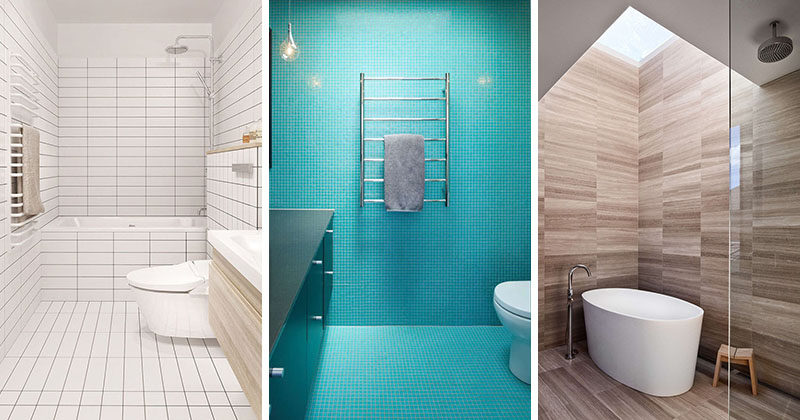 Bathroom Tile Idea Use The Same On Floors And Walls