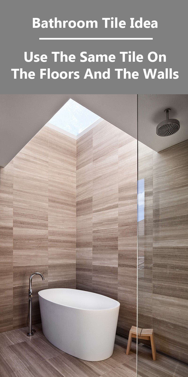 Bathroom Tile Idea - Use The Same Tile
