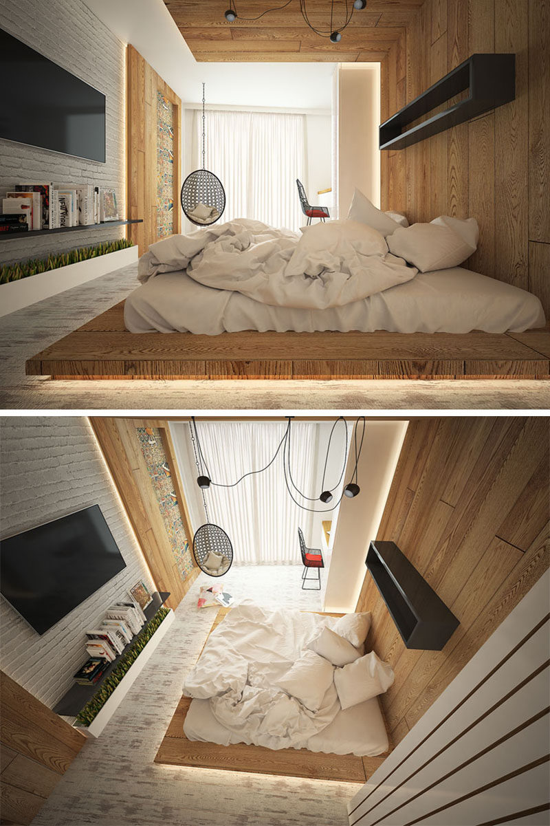 Floating Bed Bedroom Interior Design