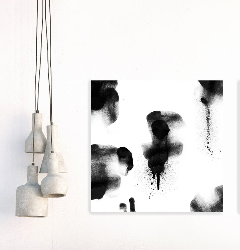 Wall art idea 14 ideas for black and white abstract wall art