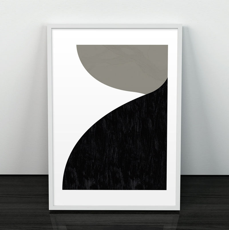 Wall Art Idea - 14 Ideas For Black And White Abstract Wall Art