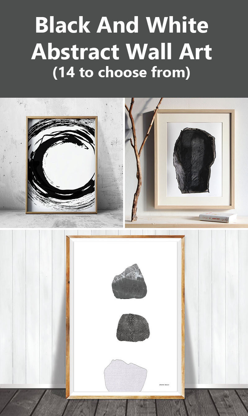 Wall Art Ideas - 14 Ideas For Black And White Abstract Wall Art