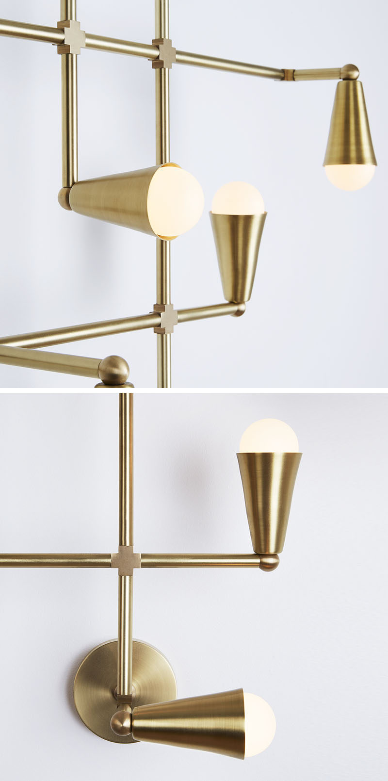 This Sculptural Brass Light Could Also Double As Art For