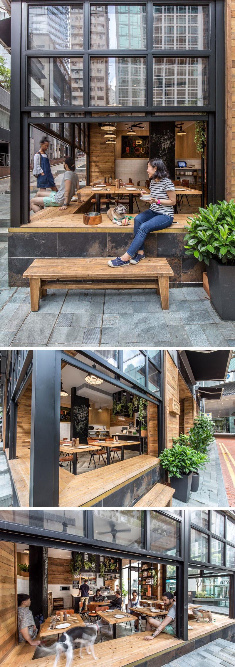 10 cửa hàng cà phê độc đáo ở châu Á / JJA / Bespoke Kiến trúc thiết kế Voi, một cửa hàng cà phê ở Hồng Kông nhấn mạnh vào sự gắn kết trong nhà ngoài trời nhờ thiết kế của nó mở ra trên đường phố để khuyến khích sự tương tác giữa những người trong quán cà phê và người dân trên đường.