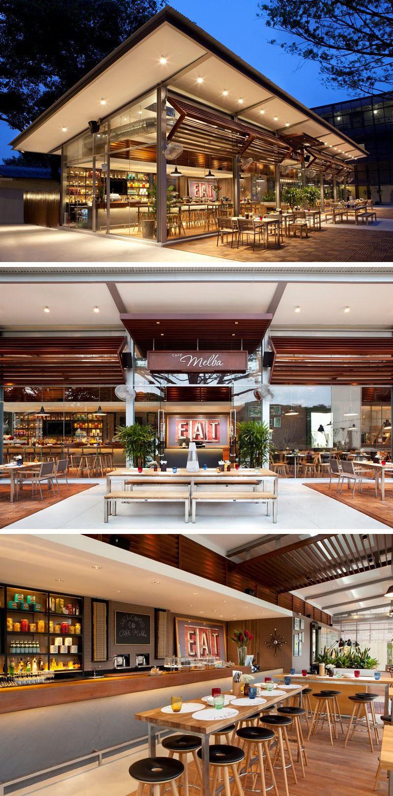 10 cửa hàng cà phê độc đáo ở châu Á / Lấy cảm hứng từ lối sống dễ dàng của người Úc, thiết kế dba đã thiết kế Cafe Melba tại Trung tâm Nghệ thuật Goodman ở Singapore để có cảm giác tinh tế và thanh lịch, thoải mái và thoải mái.