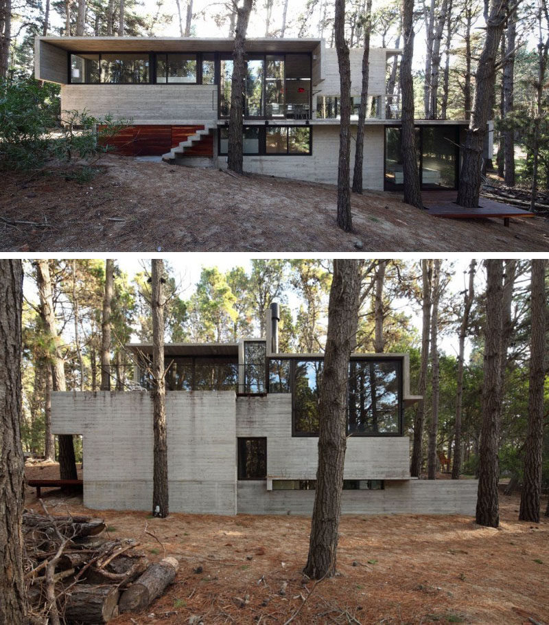 Modern Forest House: 13 Modern House Exteriors Made From Concrete