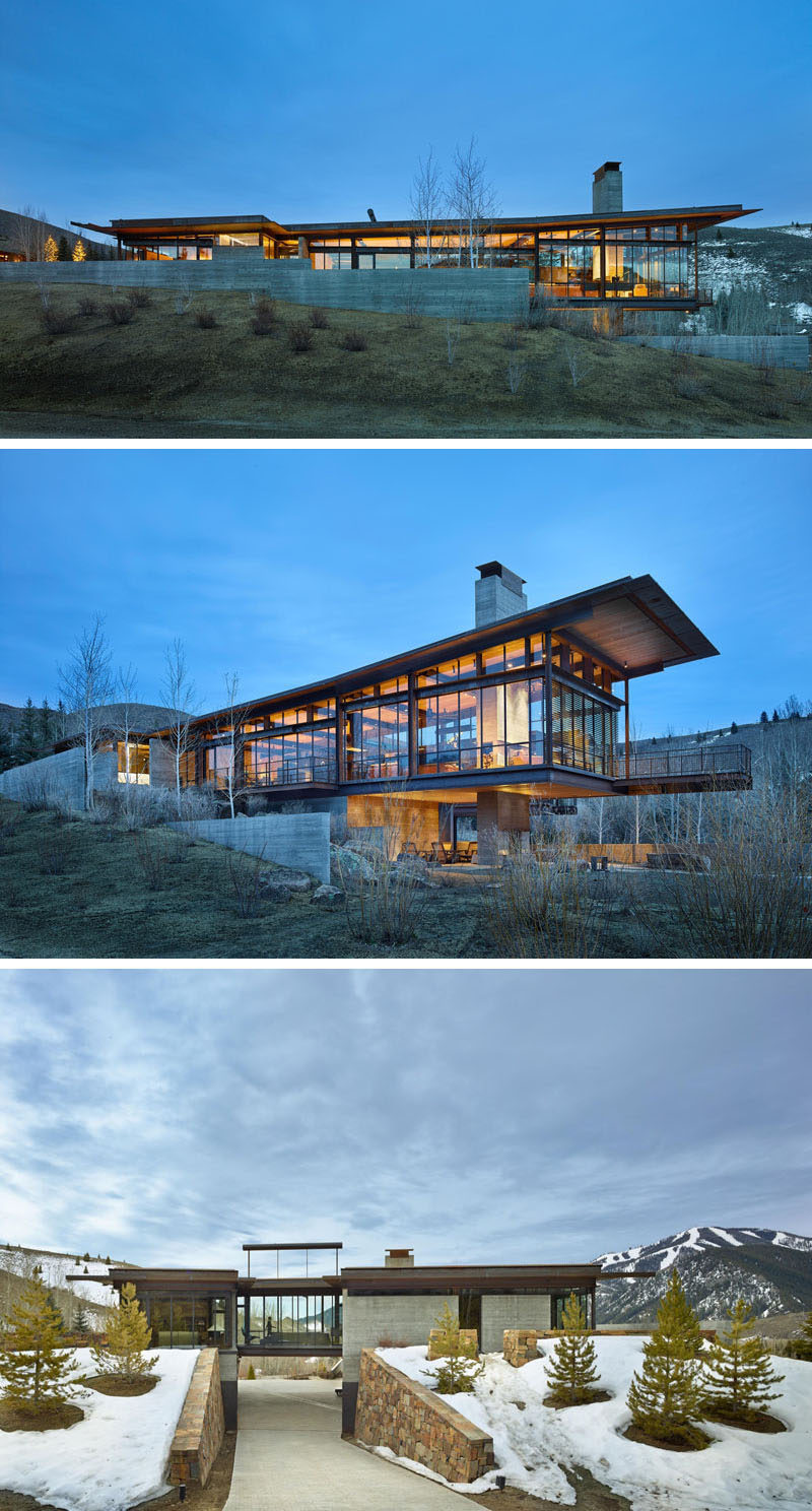 This modern mountain house is filled with industrial for Mtn house