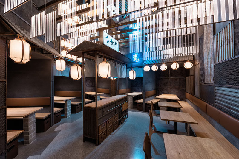 Industrial Interior DesignThis Restaurant and bar goes for a