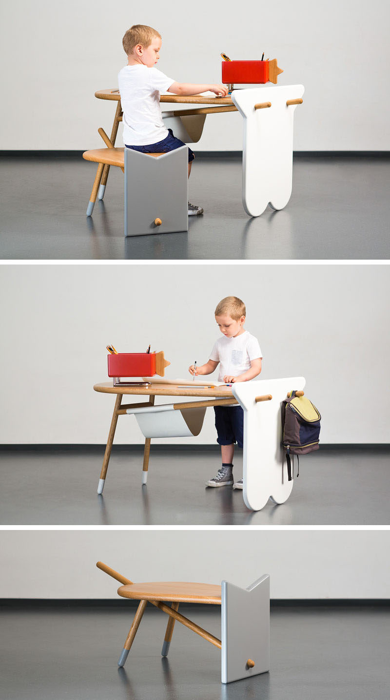 This collection of modern kids furniture in the shapes of farm animals can also be used as toys