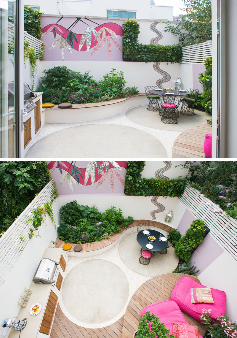 Backyard Landscaping Ideas - This small patio space is ... on Small Outdoor Patio Ideas id=47453