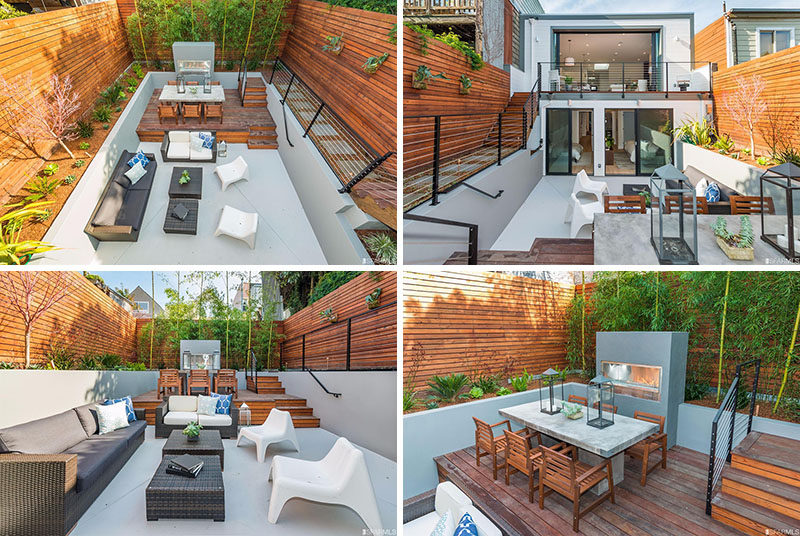Backyard Design Idea - Use Multiple Levels To Define Different Areas ...