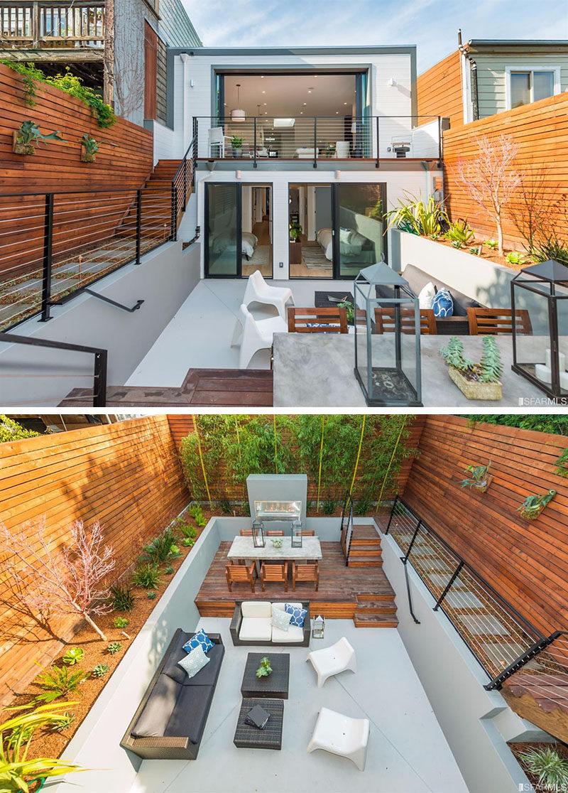 Backyard Design Idea - Use Multiple Levels To Define ... on Backyard Yard Design id=43232